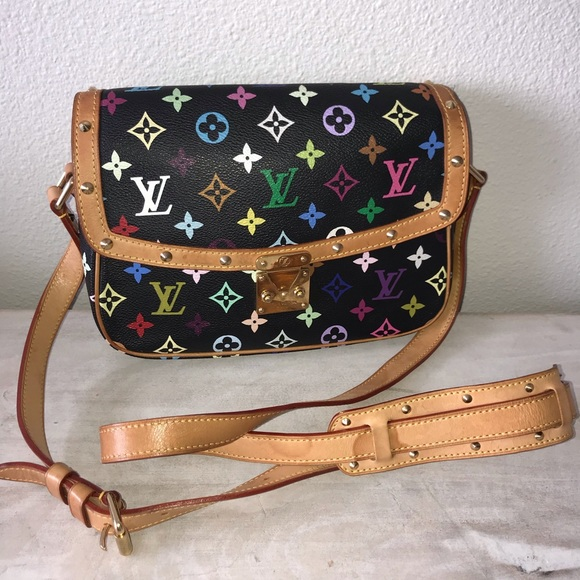 6ea36f7bc2f4 Louis Vuitton Handbags - Auth louis vuitton multicolor sologne crossbody